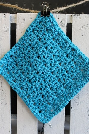 Teal Washcloth - Solid - Small