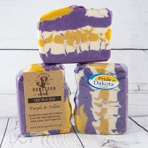 Purple & Yellow #1 Goat Milk Soap