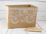 Everyday: Kraft with White Lace Gift Box Set