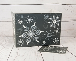 Winter: Gray & White Swirling Snowflakes Gift Box Set