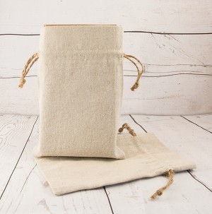 Canvas: Medium with Ties Gift Bag