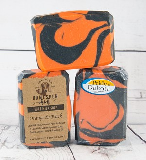 Orange & Black Goat Milk Soap